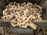 wood pellets in a crucible poster