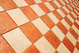checked tiles poster