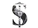 dollar symbol flat poster