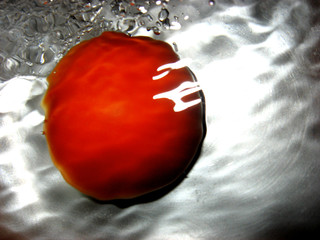 fresh tomato in water