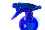 blue spray bottle poster