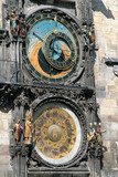 astronomic clock in the old town praha, czech republic poster