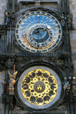 astronomic clock in the old town square praha, czech republic poster