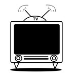 tv- vector drawing poster