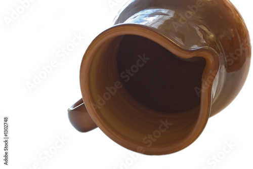 isolated ceramic jug