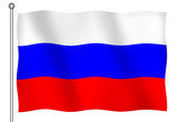 flag of russia waving poster