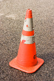 safety cone with sharp background poster