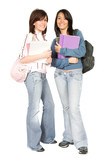 beautiful students - full body poster