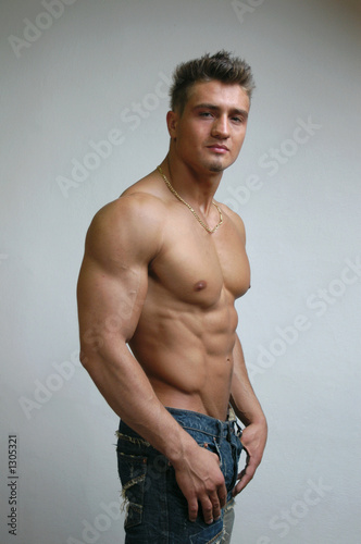 poster of muscular male torso