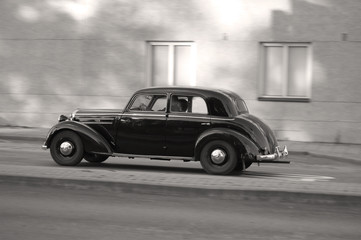 old car, sepia