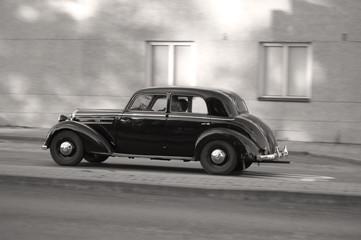 old car, sepia