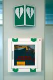 emergency defibrillator poster