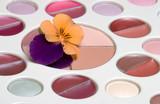 flower on makeup set poster