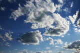 dramatic sky with clouds poster
