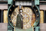 horloge art nouveau poster