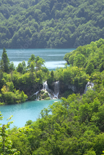 waterfall in plitvice lake