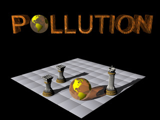 check mate, earth versus pollution.