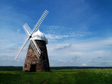 landscape windmill poster