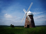 windmill in sussex countryside poster