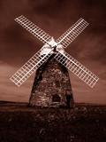 sepia windmill poster