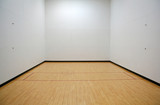 empty racquetball court poster