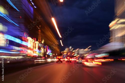 Foto Spatwand Las Vegas down las vegas strip