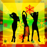 women dancing in a disco poster