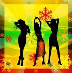 women dancing in a disco