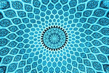 blue persian design