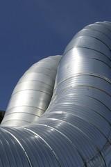 modern metallic ventilation ducts