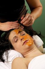 spa salon organic facial masque