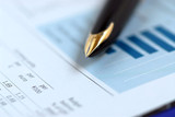 pen finance chart poster