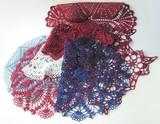 multi-color cotton crochet serviettes poster
