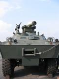 military - closeup of tank truck poster