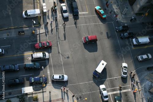 metropolitan intersection birds eye view