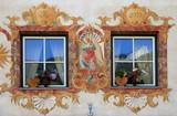 fenêtres à décor peint poster