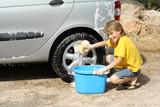 washing car poster