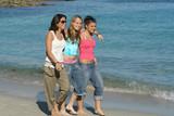 beach stroll poster