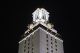 university of texas clock tower at night poster