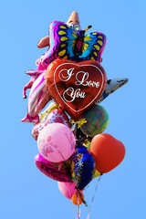 multi-coloured balloons