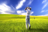 golfer blur poster
