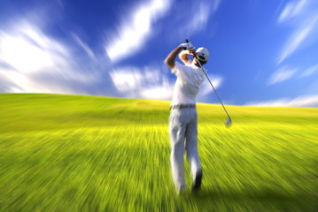 golfer blur