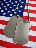 4th july dog tags poster