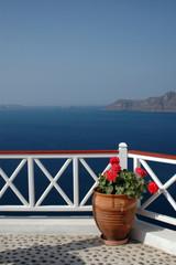 incredible santorini island view greece
