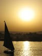 Leinwanddruck Bild egypte (nil) - coucher de soleil