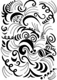 swirls and scrolls pattern poster