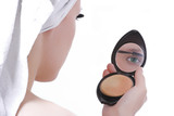 girl after shower make-up poster