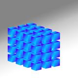 3d cubes poster