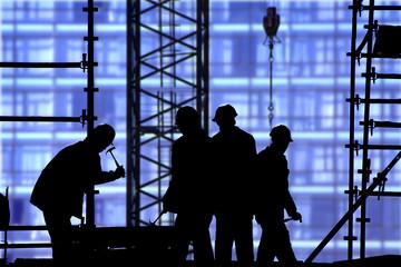 construction site blue