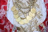 necklace with coins poster